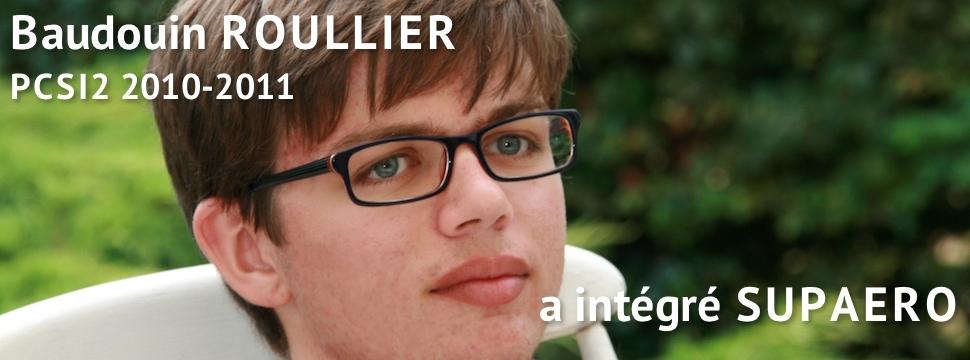 Témoignage de Baudouin ROULLIER (SUPAERO 2012)