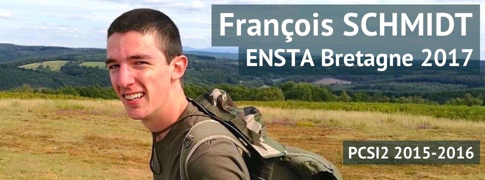 Témoignage de François SCHMIDT (ENSTA Bretagne 2017)